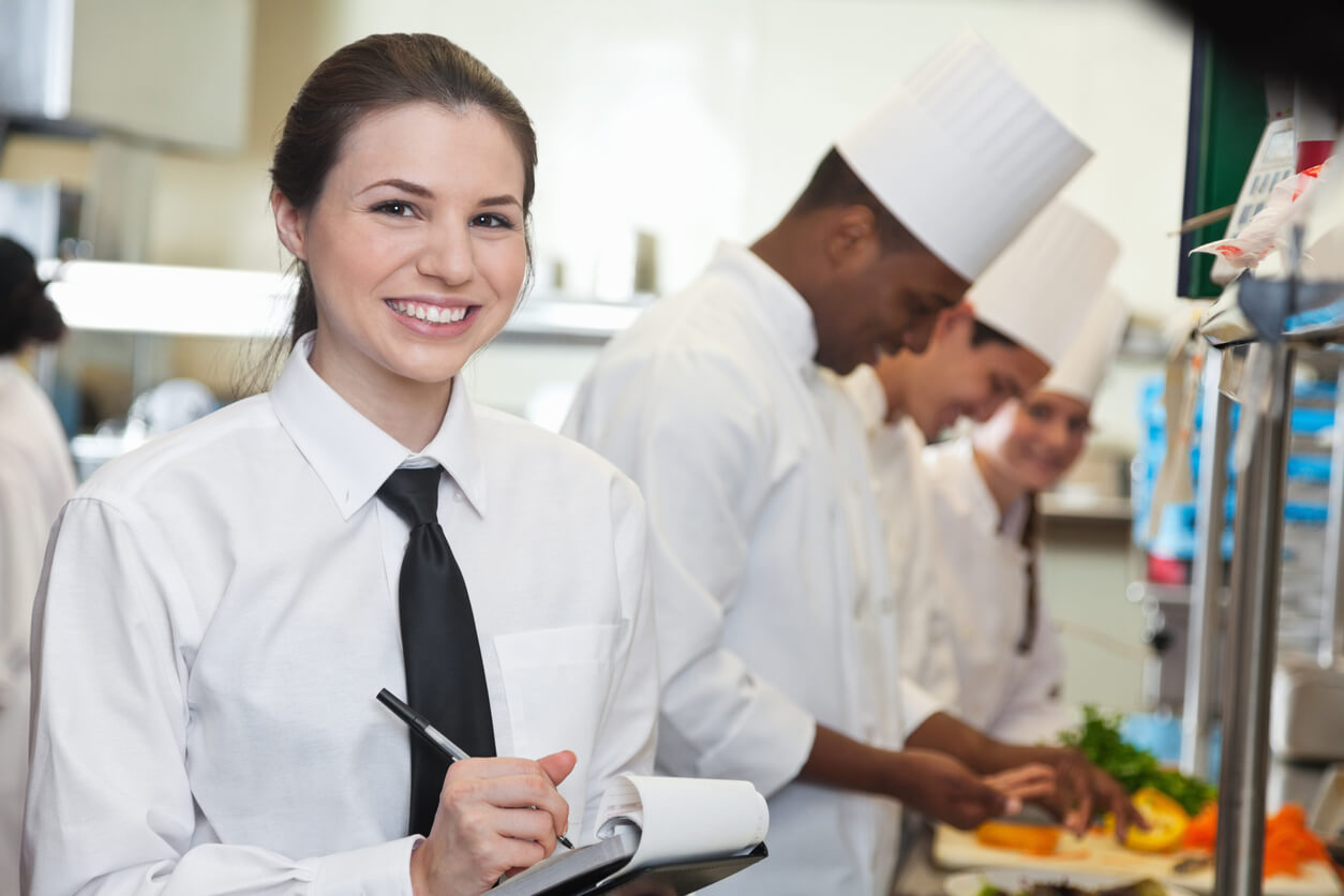 Event Server and Chefs in Kitchen